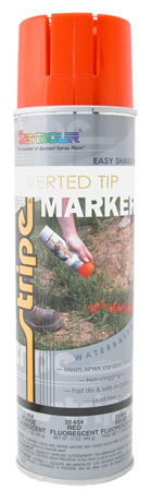 WATER-BASED INVERTED TIP MARKER PAINT - FLUORESCENT Red