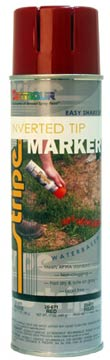 WATER-BASED INVERTED TIP MARKER PAINT - Safety Red