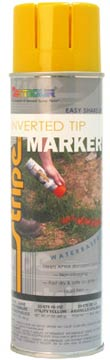 WATER-BASED INVERTED TIP MARKER PAINT - Utility Yellow